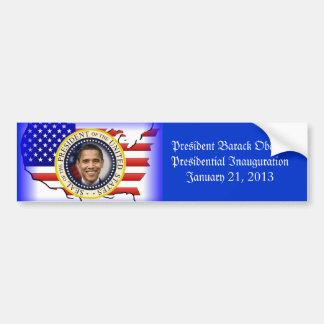 President Obama Presidential Inauguration Bumper Sticker