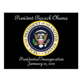 President Obama Presidential Inauguration Postcard