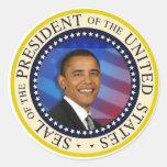 President Obama Round Sticker