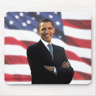 President Obama & The American Flag Mouse Mats