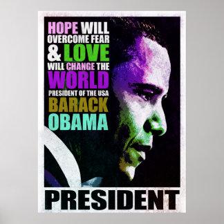 President Obama VIntage Poster