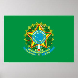 President Of Brazil, Brazil flag Posters