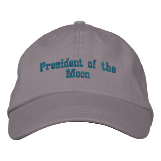 President of the Moon Embroidered Hat