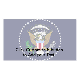 President Of The United States Of America, United Business Card Template