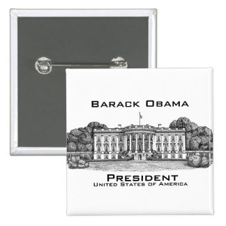 President of the USA 15 Cm Square Badge
