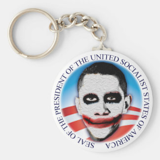 President of the USSA Basic Round Button Key Ring