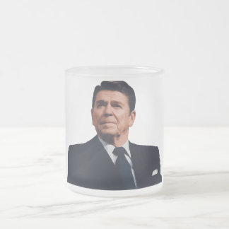 President Reagan Frosted Glass Mug