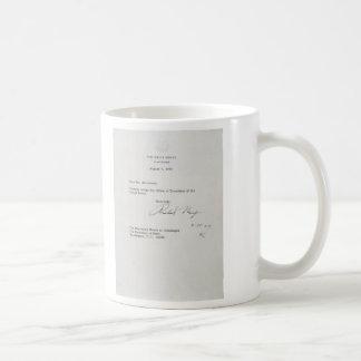 President Richard M. Nixon Resignation Letter Basic White Mug