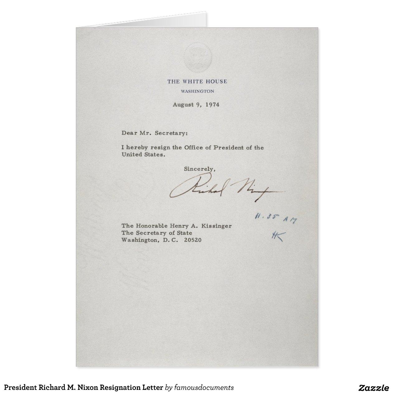 Richard Nixon Resignation Letter Peopledavidjoelco Writing A Essay