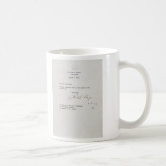 President Richard M. Nixon Resignation Letter Coffee Mug