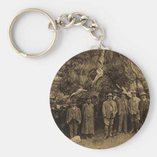President Roosevelt and John Muir '03 (Sepia) Key Ring