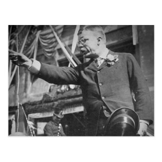 President Roosevelt Pointing Vintage Stereoview Postcard