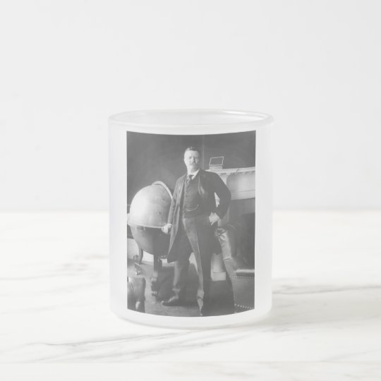 President Theodore Roosevelt Frosted Glass Coffee Mug