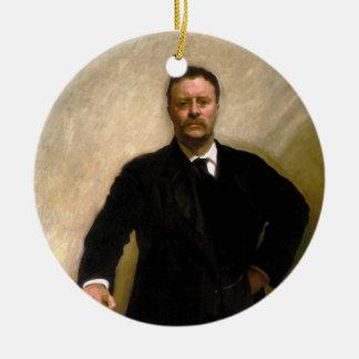 President Theodore Roosevelt John Singer Sargent Christmas Ornament