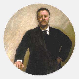 President Theodore Roosevelt John Singer Sargent Round Sticker