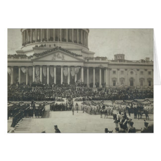 President Theodore Roosevelt Taking Oath of Office Card