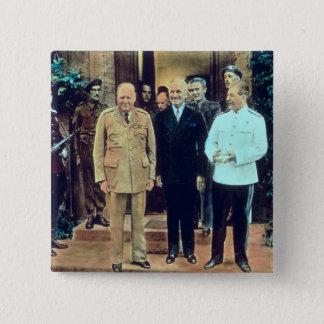President Truman and Joseph Stalin 15 Cm Square Badge