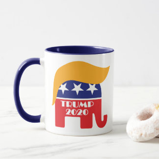 President Trump 2020 GOP Elephant Hair Logo Mug
