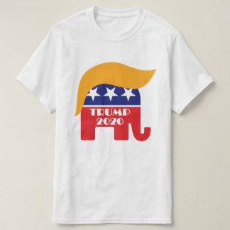 President Trump 2020 GOP Elephant Hair Logo T-Shirt