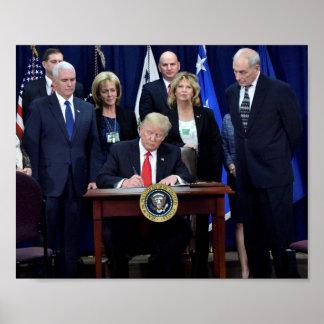 President Trump At Work Poster