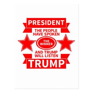 President Trump Postcard