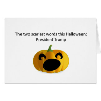 President Trump scary Halloween card