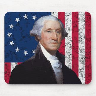 President Washington and The American Flag Mouse Pad