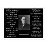 President William McKinley Postcard
