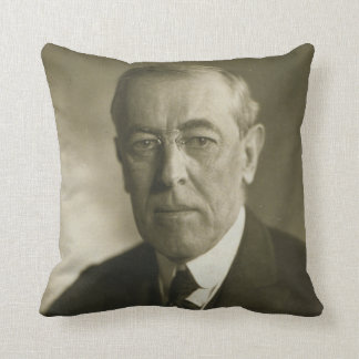 President Woodrow Wilson Portrait 1919 Cushion