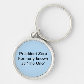 """President Zero formerly known as """"The One"""" Silver-Colored Round Key Ring"""