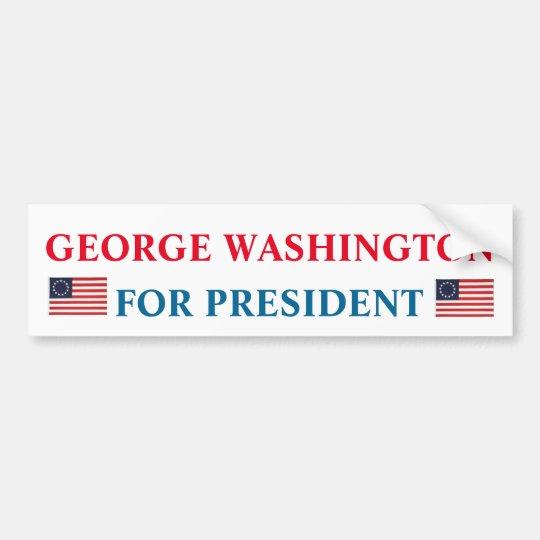 Presidential Bumper Sticker: George Washington Bumper Sticker