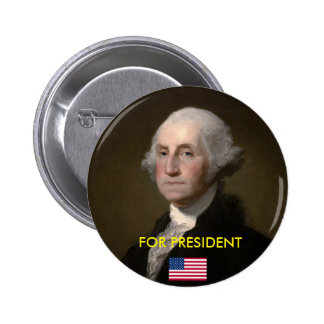 Presidential Button: Washington For President 6 Cm Round Badge