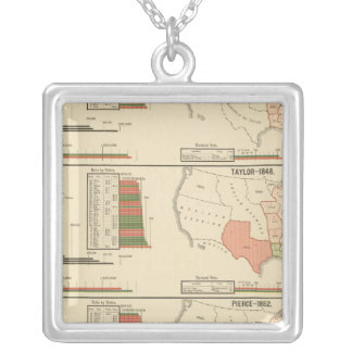 Presidential elections 1844-1856 silver plated necklace