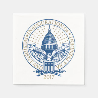 Presidential Inauguration Trump Pence 2017 Logo Disposable Napkin