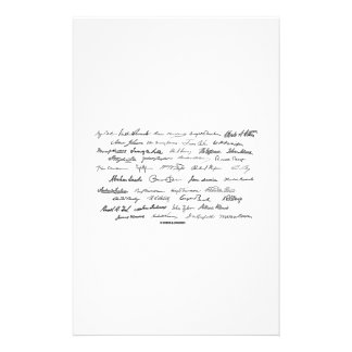 Presidential Signatures (United States Presidents) Customized Stationery