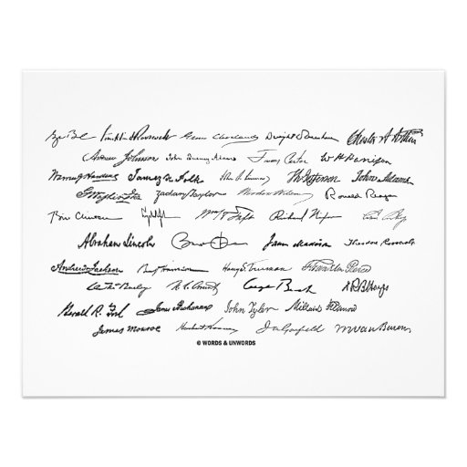 Presidential Signatures (United States Presidents) Custom Announcements