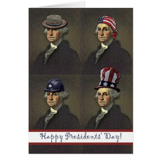 Presidents' Day, George Washington Style Card