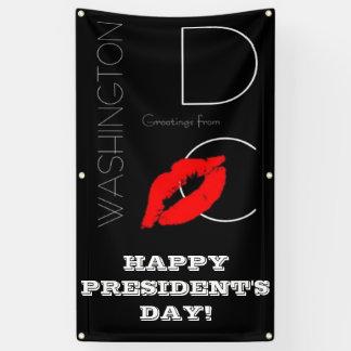 President's Day Washington DC Red Lipstick Kiss