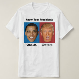 Presidents Obama Trump Covfefe - Funny Anti Trump T-Shirt