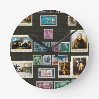 Presidents of USA, on stamps Wall Clock