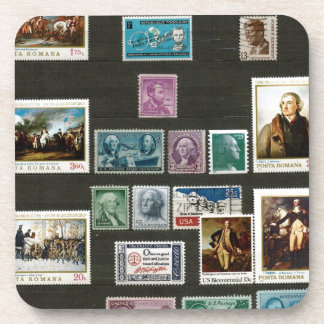 Presidents of USA on stamps Beverage Coaster