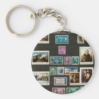 Presidents of USA, on stamps Keychains