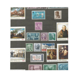 Presidents of USA, on stamps Scratch Pad