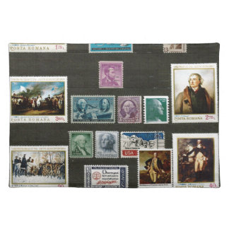 Presidents of USA, on stamps Place Mat