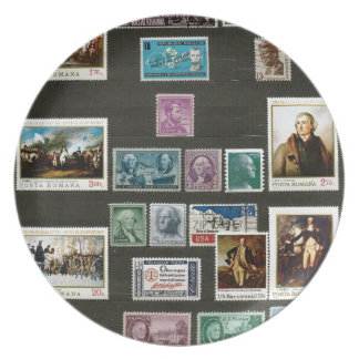 Presidents of USA, on stamps Party Plates