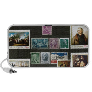 Presidents of USA, on stamps Portable Speakers