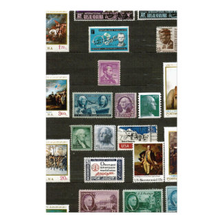 Presidents of USA, on stamps Personalized Stationery