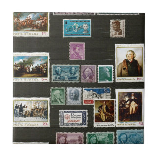 Presidents of USA, on stamps Ceramic Tile