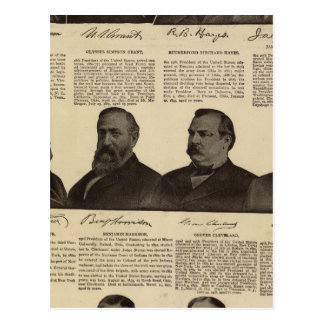 Presidents US, autographs, biographies Postcard