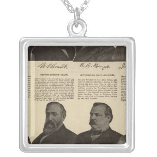 Presidents US, autographs, biographies Silver Plated Necklace